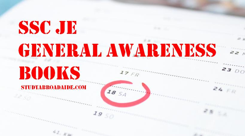 SSC JE General Awareness Books