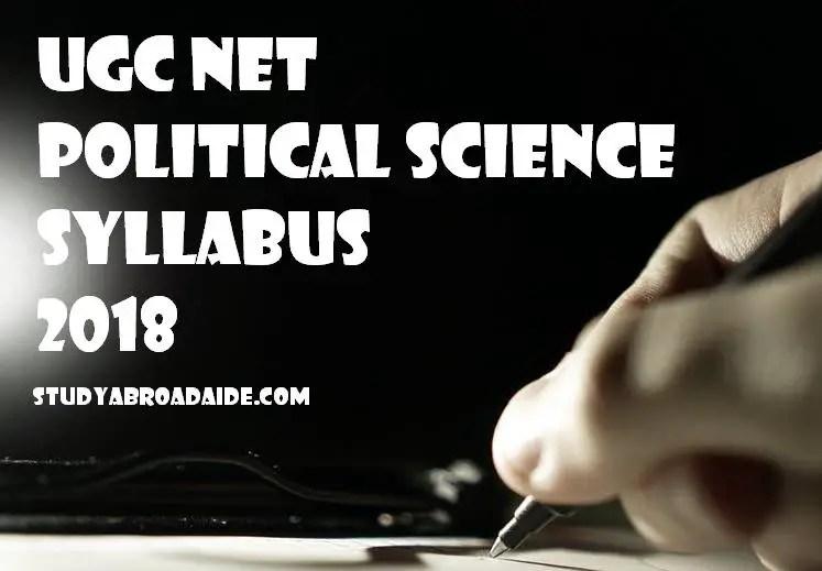 UGC NET Political Science syllabus 2018