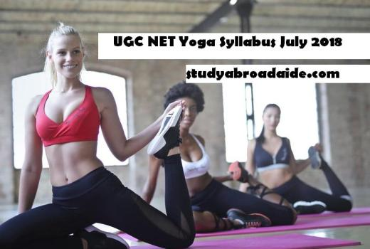 UGC NET Yoga Syllabus July 2018