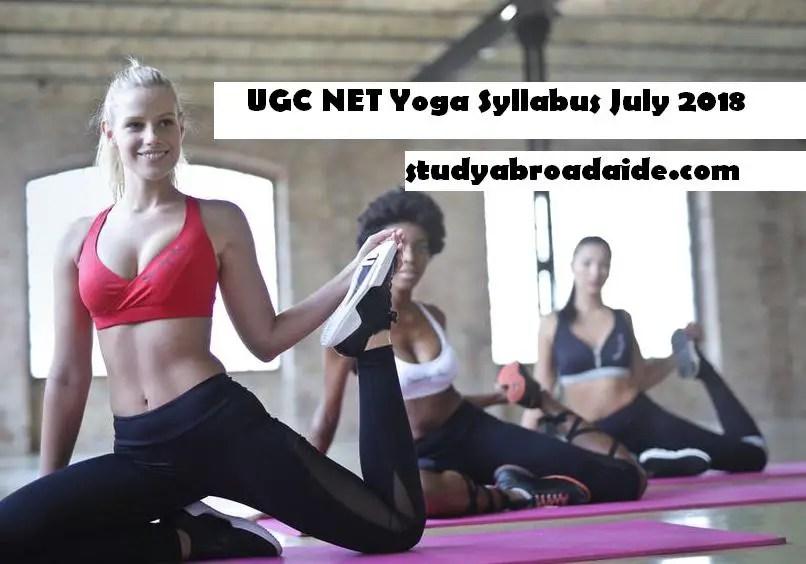 UGC NET Yoga Syllabus July 2018