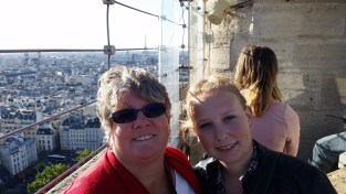 Mom and I on top of Notre Dame
