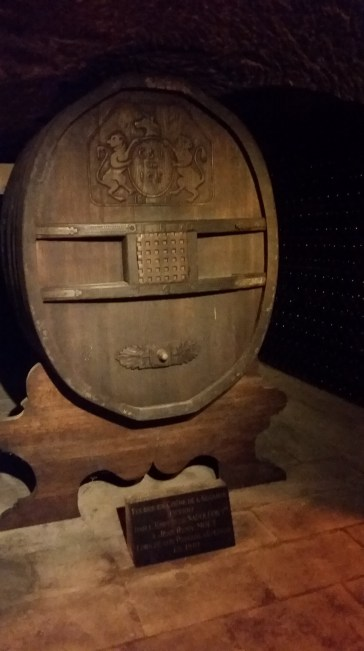 Barrel (originally containing Port) given to Moet by Napoleon