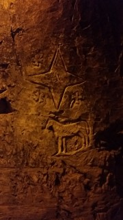 Another carving in the cave wall