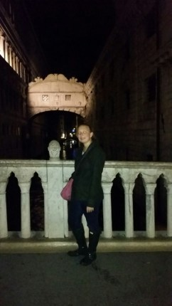 Me in front of the Bridge of Sighs