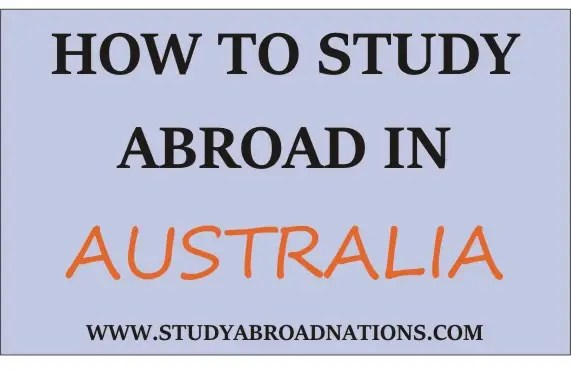 How to study abroad in Australia, where to study abroad in Australia