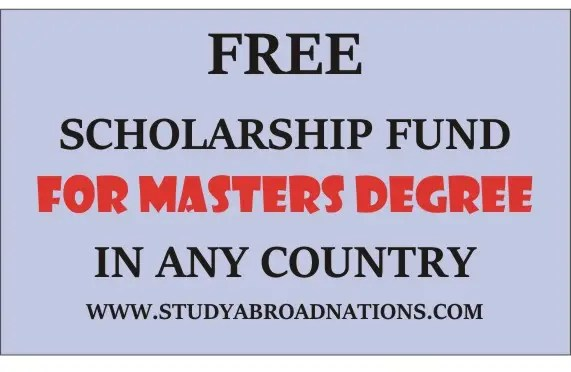 Masters Degree Scholarship Fund