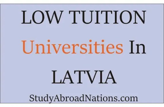 Cheap Tuition Universities In Latvia