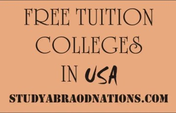 tuition free colleges in USA