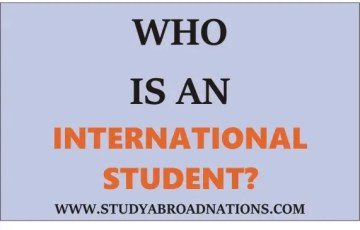who is aninternational student
