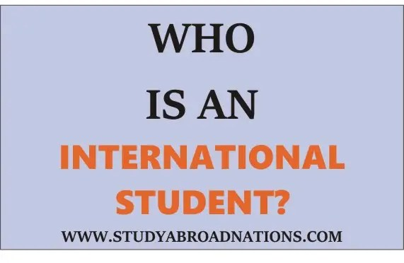 who is an international student