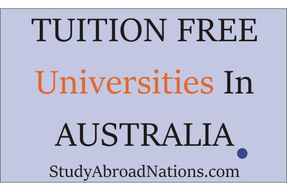 tuition free universities in Australia
