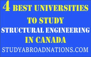 Best universities to study structural engineering in canada