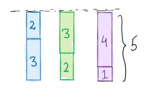 equal stacks solution