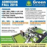 Green University Admission Fall 2016