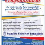 Stamford University Admission Fall 2017