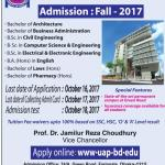 University of Asia Pacific (UAP) Admission Fall 2018