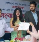 Actress Moushumi and Omar Sani distributed Certificates at Green University