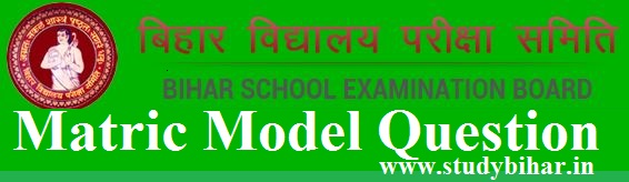 BSEB Matric Question Model