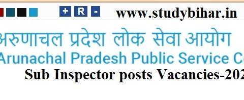 Apply - Sub Inspector posts Vacancies-2021 in APSC, Last Date- 15/03/2021.
