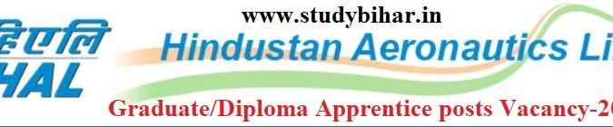 Apply - Graduate/Diploma Apprentice Posts in HAL, Last Date-25/02/2021.