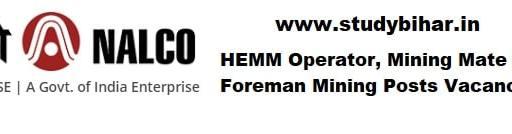 Apply- HEMM Operator, Mining Mate and Foreman Mining in NALCO