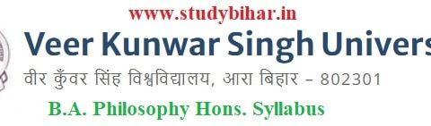 Download the B.A. Philosophy Hons. Syllabus of Veer Kunwar Singh University, Ara-Bihar