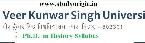 Download the Ph.D. in History Syllabus of Veer Kunwar Singh University, Ara-Bihar