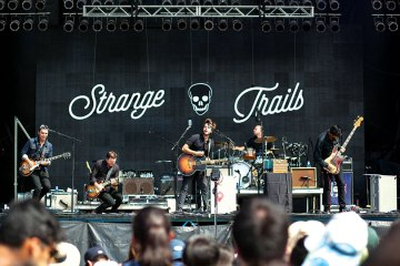 The Band Strange Trails Performing