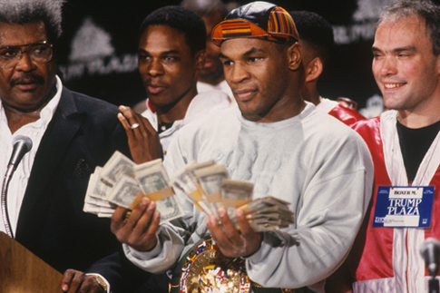 Mike Tyson with all his money