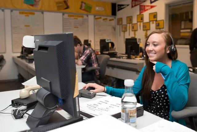 Student at Iowa telefunding