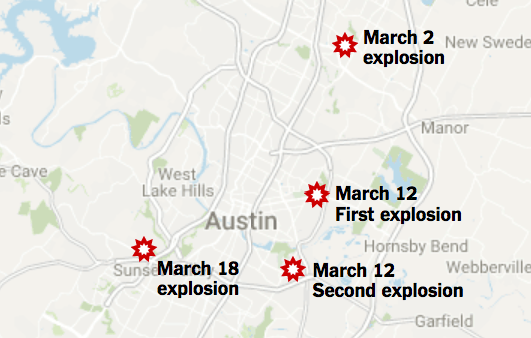 Here's the Latest on the Austin Bombings