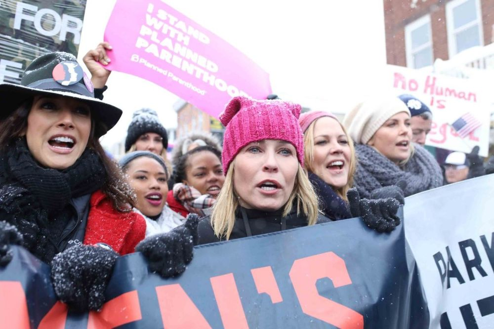 Handler uses her platform to speak about issues that matter, such as women's rights. (Image via NY Daily News)