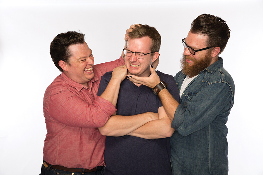 """The McElroy boys have started their own podcasting empire, and are now known as the """"good boys"""" of comedy. (Image via wilwilliams.reviews)"""