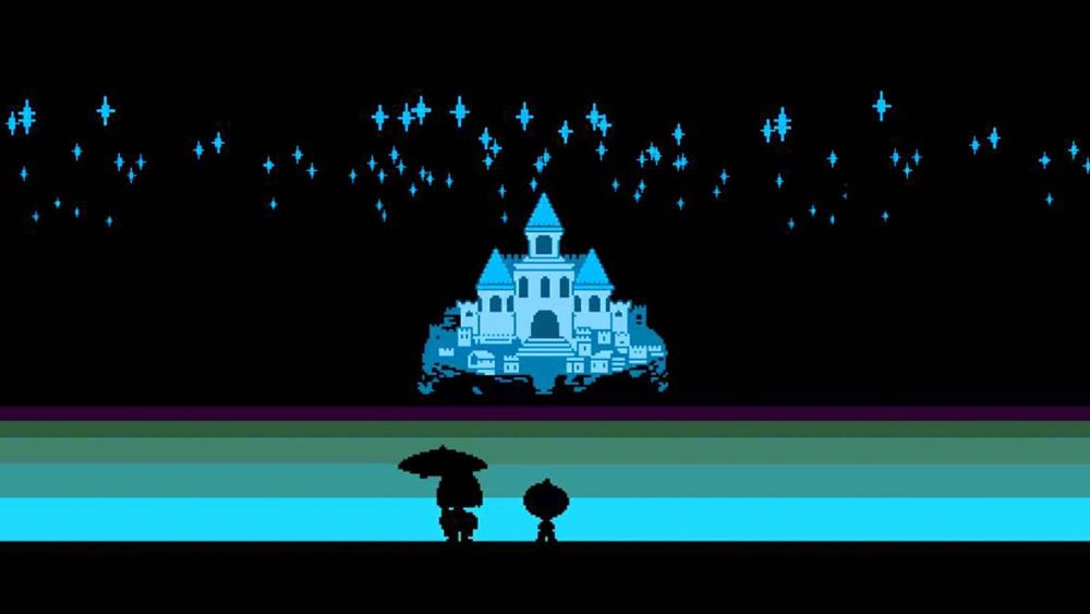"""Deltarune"" is often referred to as ""Undertale 2."" (Image via Teespring)"