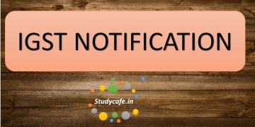 IGST Notification No. 3/2017 – Integrated Tax dated 28-06-2017
