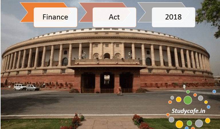 Download Finance Act 2018 Notified by Government
