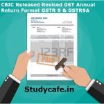 CBIC Released Revised GST Annual Return Format for GSTR 9 & GSTR9A