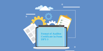 Format of Auditor Certificate in Form DPT-3
