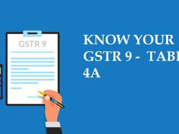 KNOW YOUR GSTR 9 - TABLE 4A : All about Table 4A of GSTR 9