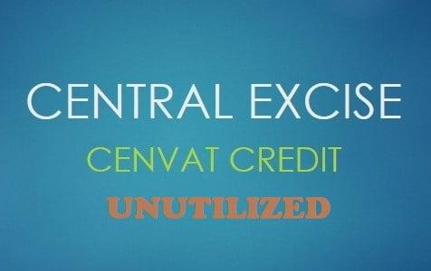 Cash refund of unutilized credit impermissible on closure of business