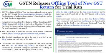 New Return Offline Tool (Beta) Available at GST Site