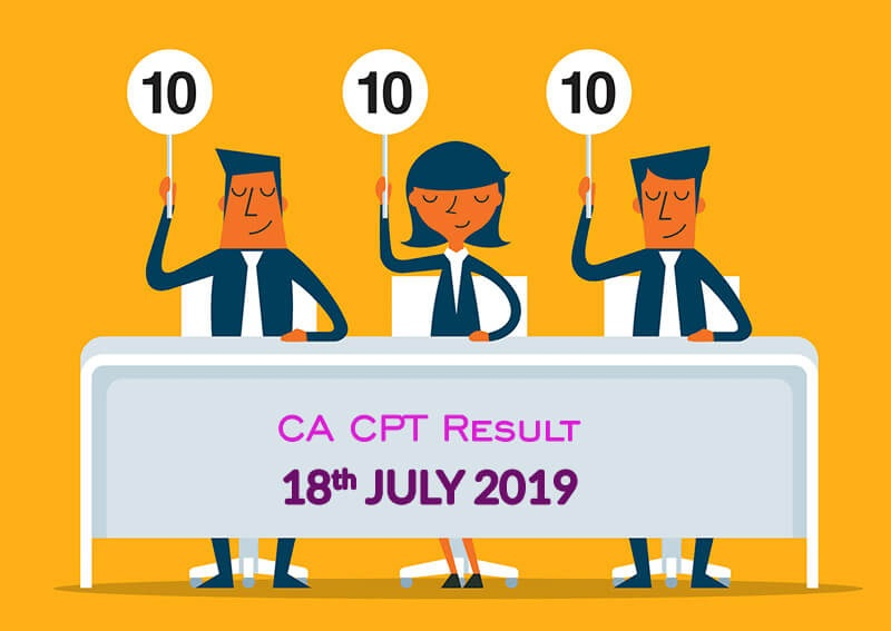 ICAI declared Common Proficiency Test (CPT) Result of June 2019 Exam