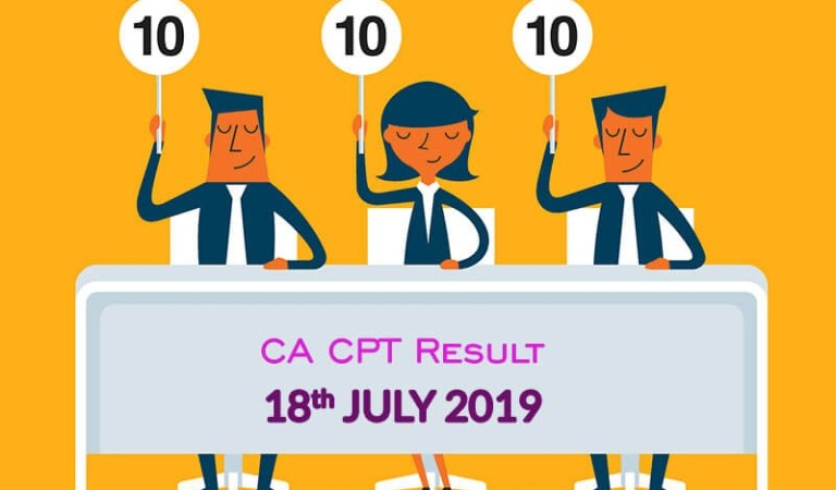 ICAI declared Common Proficiency Test (CPT) Result of June 2019 Exam