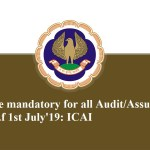 UDIN will be mandatory for all Audit/Assurance/Attest function w.e.f 1st July'19: ICAI