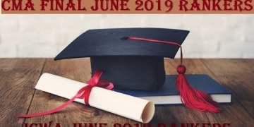 CMA Final June 2019 Rankers | ICWA June 2019 Rankers