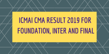 ICMAI result for June term to be declared on 23rd Aug 2019