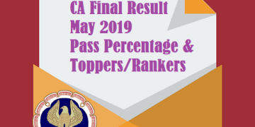 CA Final May 2019 Pass Percentage, Toppers/Rankers