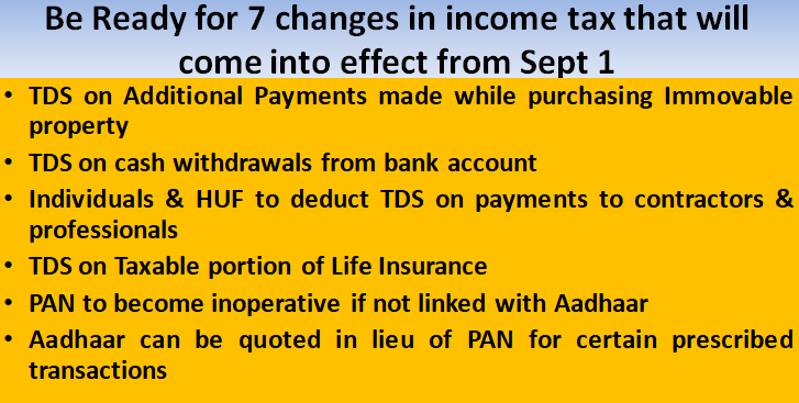 Be Ready for 7 changes in income tax that will come into