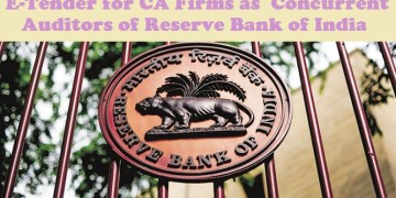 E-Tender for CA Firms as Concurrent Auditors of Reserve Bank of India