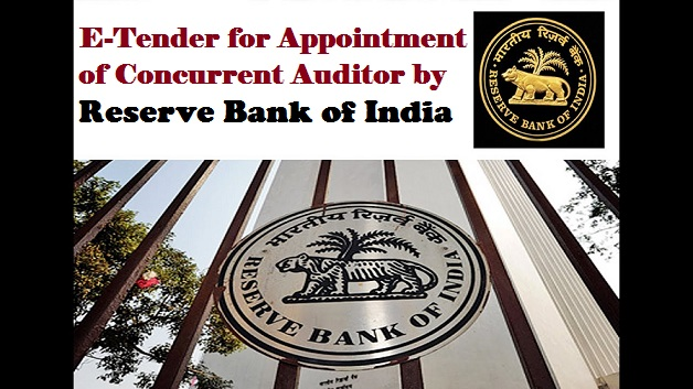 E-Tender for Appointment of Concurrent Auditor by Reserve Bank of India